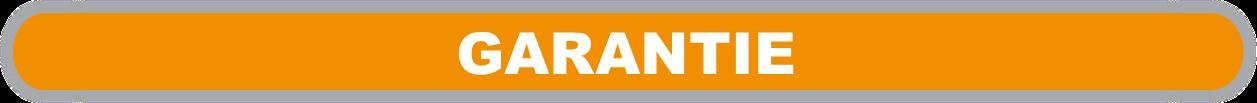 """orangefarbene Fläche mit weißer Beschriftung """"Garantie"""""""