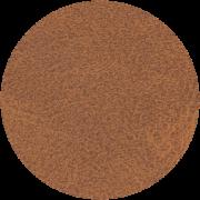 Dieses Bild zeigt ein rundes Kunstledermuster in der Farbe cognac.