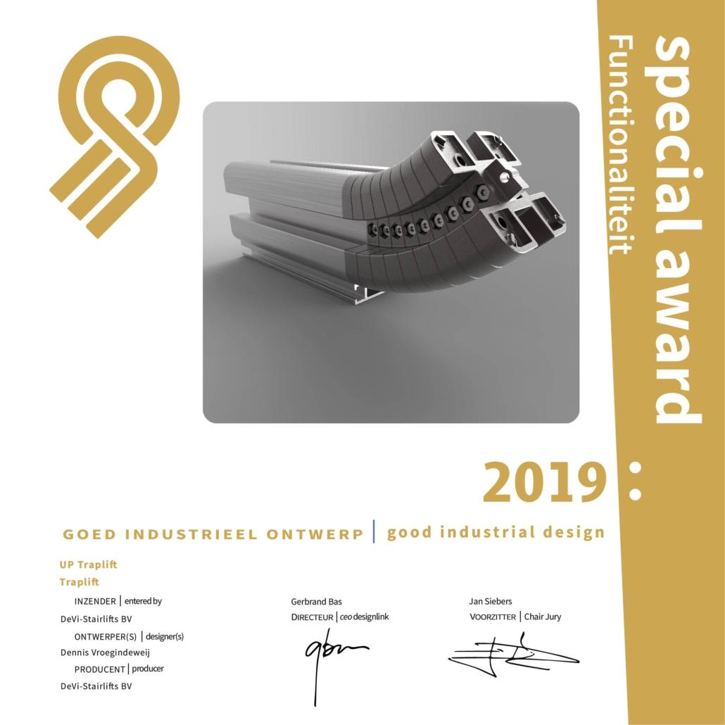 Dieses Bild zeigt eine Auszeichnung des Spezial Award für Funktionalität des Jahres 2019.