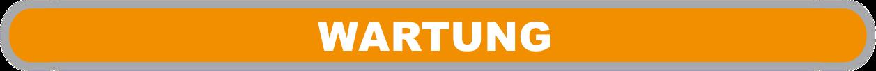 """orangefarbene Fläche mit weißer Beschriftung """"Wartung"""""""
