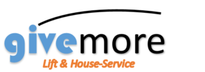 """Logo givemore mit Unterschrift """"Lift und Haus-Service"""". Führt bei anklicken zurück zur Hauptseite. Rubrik Treppenlift/Treppenlift kaufen/Treppenlift mieten/Kosten Treppenlift/Preise Treppenlift/Föderung Treppenlift"""