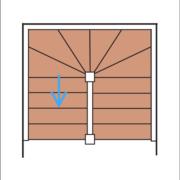 Das Bild zeigt eine schematische Darstellung einer U-Treppe.